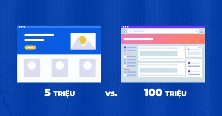 Website vài triệu và Website trăm triệu khác nhau như thế nào? 5